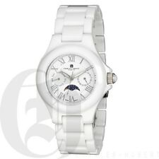 Charles Hubert Mens White Ceramic Watch Day Date 3872-W