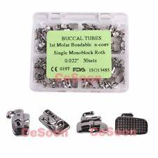 50Sets Orthodontic Buccal Tube Bonding Single Tubes 1st Molar Roth 022 Monoblock