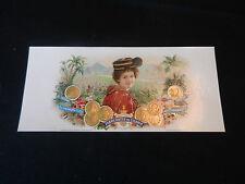 1895 FABRICANTES DE CIGAROS GEO. HARRIS & SONS TOBACCO LABEL Kildow Tiffin Ohio