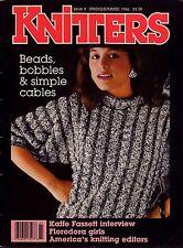 Knitters 4 Spring Summer 1986 Beaded Purse Cable Sweater Kaffe Fassett VTNS