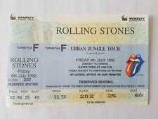 ROLLING STONES URBAN JUNGLE TOUR 1990 WEMBLEY UNUSED TICKET