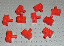 LEGO - BRICK MODIFIED 1 x 2 with Pin, RED x 10 (2458) BM116