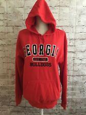 NCAA Georgia Bulldogs Red Sweatshirt Drawstring Hoodie Kangaroo Pockets Size L