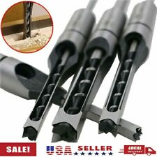 Woodworking Square Hole Mortising Chisel Drill Bit Wood Hole Saw Cutter 4 Size
