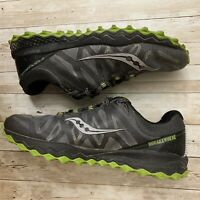 Saucony Peregrine 7 Gray/Green US Men's Size 12 All-Terrain Grip Sole Shoes