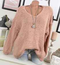 douillet extra-large Pull grossier en tricot 36 38 40 Blogger rose hiver alpaga