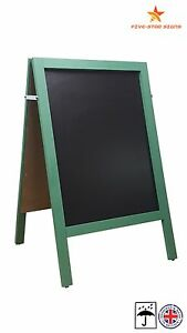 LARGE - GREEN - A BOARD - PAVEMENT  BOARD  - 10 KG - 100CM HIGH X 62CM WIDE