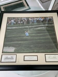 """Arnold Palmer autographed signed 24x20 Framed  Photo Print """" Arnie In Church """""""