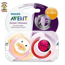 Avent Orthodontic Pacifier 6-18 months, 2 pack, animal designs, BPA Free
