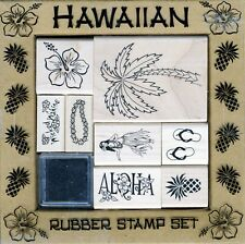 All Night Media - Rubber Stamp Set - Hawaiian - 2418R