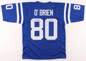 Jim O'Brien Signed Baltimore Colts Jersey Inscribed SB V Victory Kick  ~JSA COA~