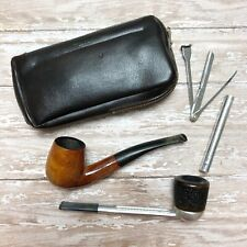 Vintage Smoking Pipe Falcon Ireland 1 Golden Burl France London Cleaning Tool