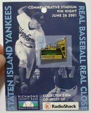 2001 Staten Island Yankees NY Stadium MiLB Vintage Commemorative Pin Radio Shack