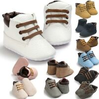 Newborn Baby Boy Girl Booties Soft Sole Snow Boots Winter Warm Pram Crib Shoes