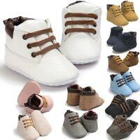 Newborn Baby Boy Girl Booties Soft Sole Snow Boots Winter Warm Pram Crib Shoes