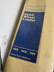 Caterpillar Cat 966D Wheel Loader Service Repair Manual 35S 94X 99Y 1984