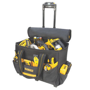 "DeWalt DGL571 - 18"" Roller Rolling Tool Bag Box Carrier LED Light Lighted Handle"
