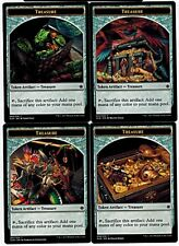 TREASURE TOKEN x16  ~mtg EX/NM Ixalan 4 Each Art