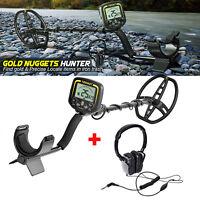 NEW Metal Detector Waterproof Treasure Hunting Gold Digger LCD Display Headphone