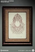 Death Mask Letterpress Maske Court of the Dead Fine Art Print Framed Sideshow