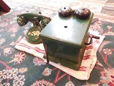 Vintage Phone with Oak Ringer Box