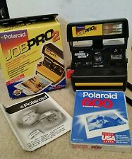VINTAGE POLAROID 600 BUSINESS EDITION JOB PRO 2 CAMERA w/BOX, MANUAL,FILM TESTED