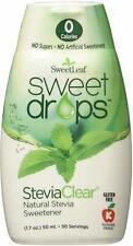 Sweet Drops Liquid Stevia, SweetLeaf, 1.7 oz Clear 12 pack