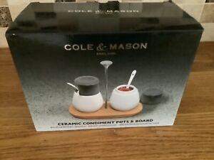 Cole & Mason Ceramic Condiment Pots & Board