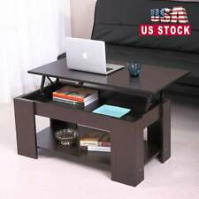 Top Lift Coffee Table w/Storage Hidden Compartment Wood End Table Home Furniture