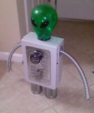 Repurposed Metal Sculpture Alien Robot Android Art Sci Fi Steampunk Roswell