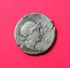 ROMAN REPUBLIC SILVER DENARIUS, Mn.Aemilius Lepidus, 114-113BC-AEMILIA 7 [#4007]