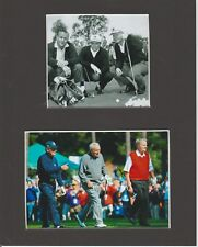 ARNOLD PALMER, JACK NICKLUS & GARY PLAYER MATTED PHOTOS OF 1960'S & LATER