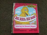 Big Bird's Red Book  Sesame Street 1977. Original Hardcover Classic