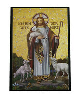 Occident Lithograph Icon Christ The Good Shepherd 7.5x10.5cm