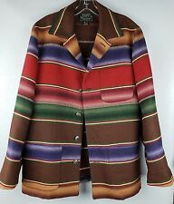 Vintage Ralph Lauren Country Blanket Navajo Coat Southwest Size M Wool Blend