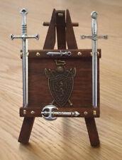 1/12 Dolls House miniature Handmade Weapons Rack Sword Stand Axe Swords INC! LGW