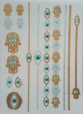 Temporay Tattoo Flash Metallic Tatoo Glow Dark Hamsa Fatimas Hand Khamsa Nazar