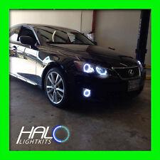 ORACLE LIGHTING 2006-2010 Lexus IS WHITE LED CCFL Headlight +Fog Halo Rings Set