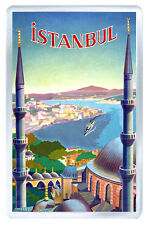 ISTANBUL TURKEY VINTAGE REPRO FRIDGE MAGNET SOUVENIR IMAN NEVERA