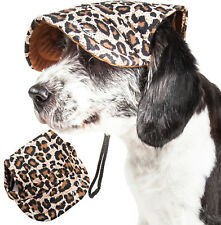 Pet Life 'Cheetah Bonita' UV Protectant Adjustable Fashion Pet Dog Hat Cap
