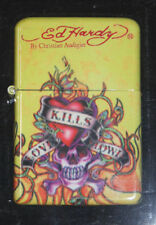 Ed Hardy by Christian Audigier Flip Top Oil Lighter Refillable Tattoo Flint