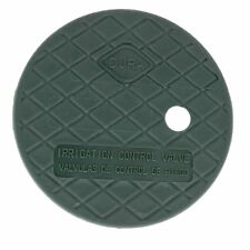 """Dura Round Sprinkler Valve Box Replacement Lids Size 7"""" Color Green"""