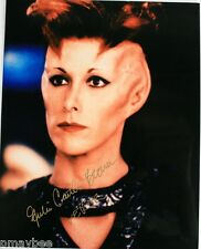 "Autographed 8""x10"" Photo - Julia Caitlan Brown as Vekor in Babylon 5"