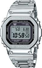 Casio G-Shock Full Metal GMWB5000D-1 Silver MultiBand-6 Bluetooth Solar Power