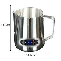 Stainless Steel Milk Jug Frother Coffee Latte Container AU Metal Pitcher G1V4