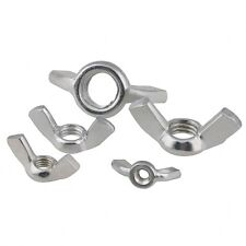 """QTY 5 1/4""""-20 UNC WING BUTTERFLY NUTS ZINC PLATED TO FIT BOLTS & SCREWS"""