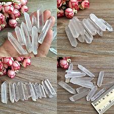 2pcs Unpolished Natural Clear Frosted Quartz Crystal Minerals Specimen Decor