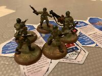 Heroscape Sgt Drake Alexander and Airborne Elite With Cards Rise Of The Valkyrie