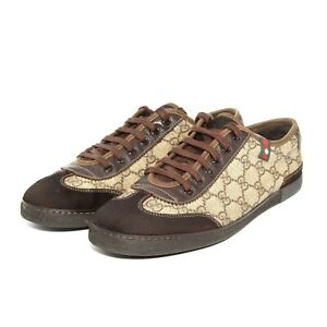 Mens Gucci GG 204282 Trainers Suede Canvas Shoes  UK 6.5 G  US 7  Eu 40.5