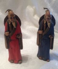 Lot of 2  Candles By The Candle Factory Sculpted Chinese Men  Candles